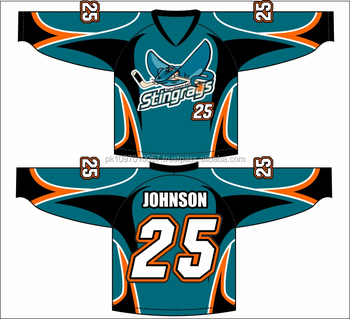 Teal Stingrays Hockey Fully Sublimated Jersey - Buy Technique Game ... c65b02ccfc5