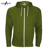OEM custom made high quality zipper hoodie for retailing