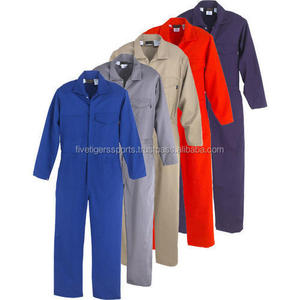 coverall,overalls 2018 hot selling men work wear construction safety uniform 100% cotton 180-200 gsm for winter