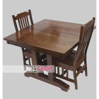 Portable Indian Sheesham Wooden Folding Dining Table Set With 2