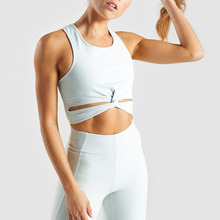 Groothandel Twist Zoom <span class=keywords><strong>Petite</strong></span> Womens Slim ingericht Racerback Sexy Middenrif Crop Tops