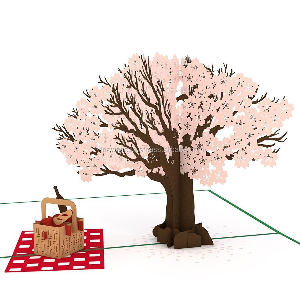 Открытки 3 дерево