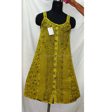 Stone Wash Rayon Mini Sun Dress/Tunic