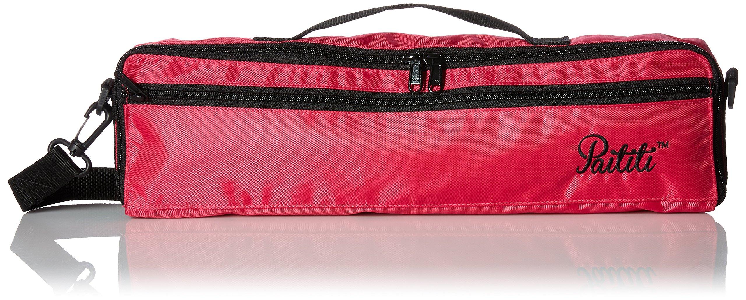 Paititi  C Flute Hard Case Cover w Side Pocket//Handle//Strap Purple Color
