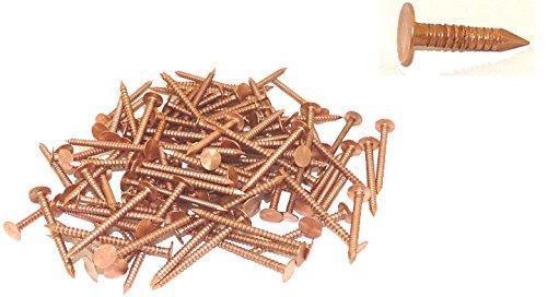 """3/4"""" x 11-Gauge Ring Copper Roofing/Slating Nails 5lb"""