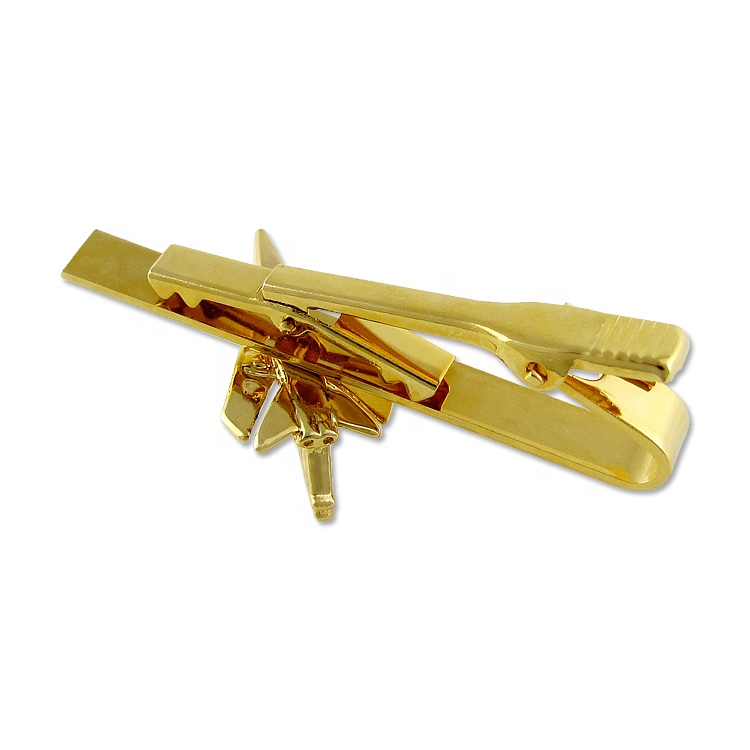 Wholesale Blank Tie clip Custom Zinc Alloy Airplane Tie Bar