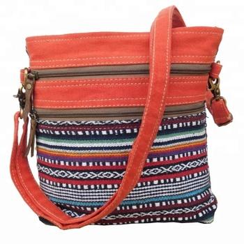Wanita Messenger Belanja Tote Bag India Buatan Tangan Katun Kanvas Tas  Selempang 0b331f2efe