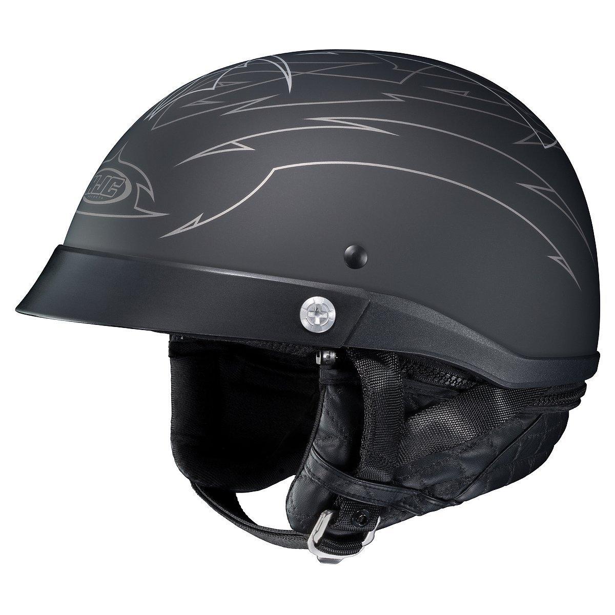 HJC Helmets Unisex-Adult Half-Size-Helmet-Style CL-Iron Road Show Boat MC5F Helmet (Black, Small)