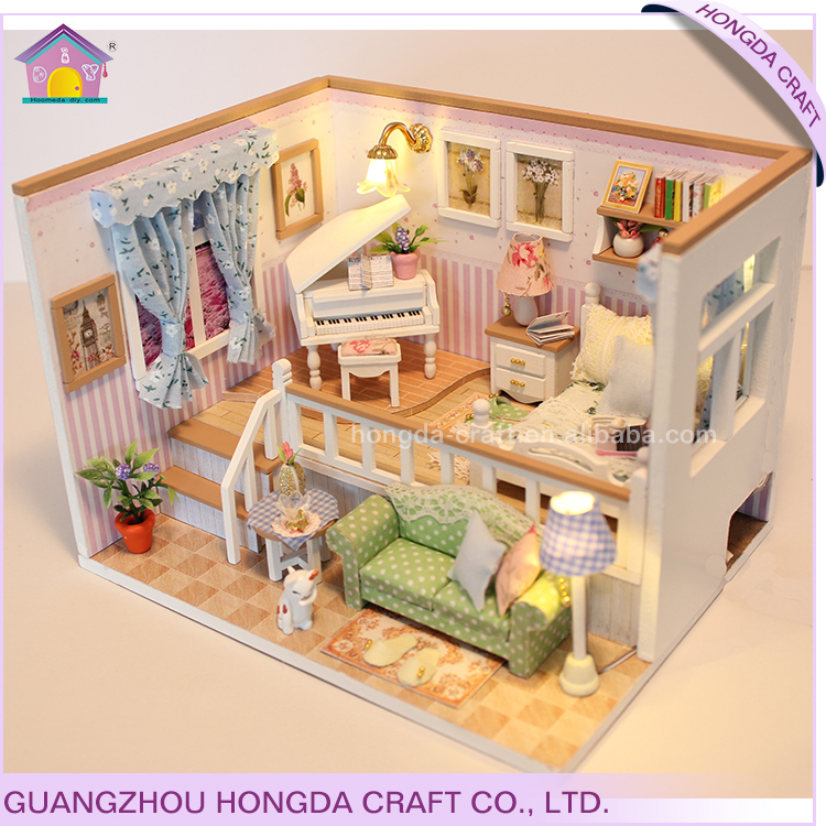 Supply To Chain Bookstore Diy Mini House Toy Dollhouse Living Room