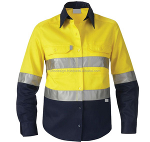 Work Wear Shirt Special Uniform Men's Long Sleeve Reflective Safety Shirt