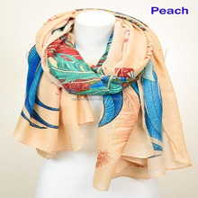Wholesale Custom Crepe Printed Shawls Scarves Hijab Scarf for Women
