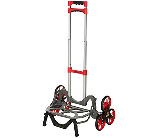Color UpCart The All-Terrain Stair Climbing Folding Up Cart Hand Truck Dollie (Red)