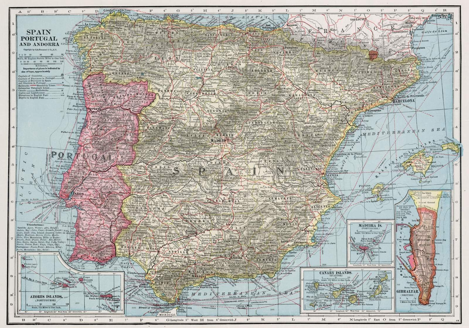 1948 World Map.Cheap World Map Spain And Portugal Find World Map Spain And