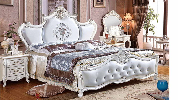 Latest Wooden Double Single Bed Design Furniture With Box Solid Wood Bed  Design French Classic Carved