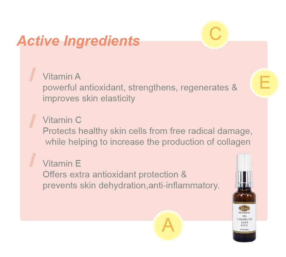 L - ascorbic Ageless Vitamin C Serum Private Label