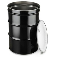 Steel Drum with Lid - 55 Gallon, Open Top, Unlined Steel barrels