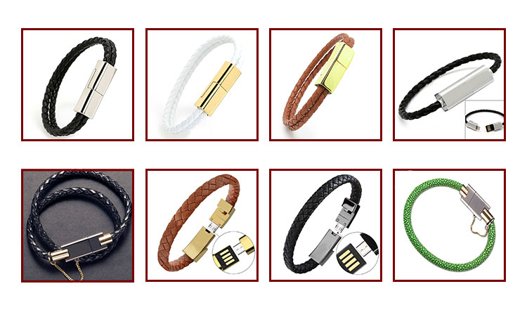 Wholesale Micro Mobile Phone Usb Charging Power Cable, Charger Usb Cable Bracelet For Apple Android Type C
