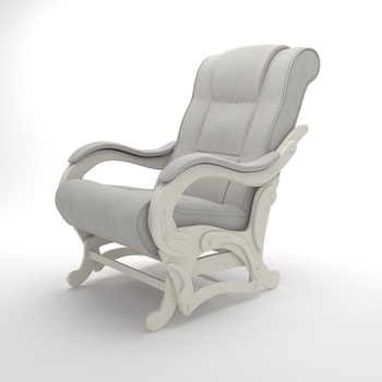 Wooden Rocking Chairs for Adults, Model-78 (Light Grey)
