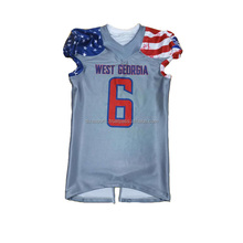 American US flag design sublimation football jersey, sublimation kids american football jersey for youth , cheap football jersey