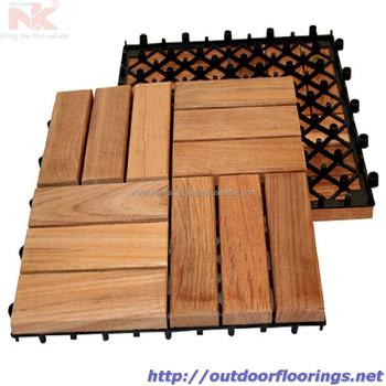 Wood Deck Tiles Asean Hardwood Plastic Base Interlocking System