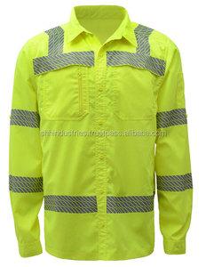 ANSI/ISEA Compliant Lightweight Button Down Shirt