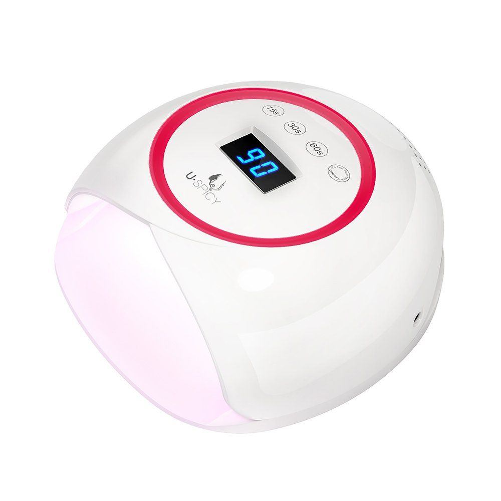 USpicy 36W LED Nail Dryer Nail Lamp with Speedy Drying Process, without Getting Tanned, Automatic Sensor, Works With All Gel Nail Polishes, Large Space, 4 Timer Settings(90s Tension-Free Curing)