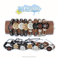 Wholesale High Quality Fashion Design Painted Braided Leather Bracelet