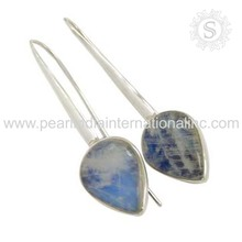 Latest fashion rainbow moonstone offers earring gemstone handmade silver jewelry 925 silver jewelry suppliers