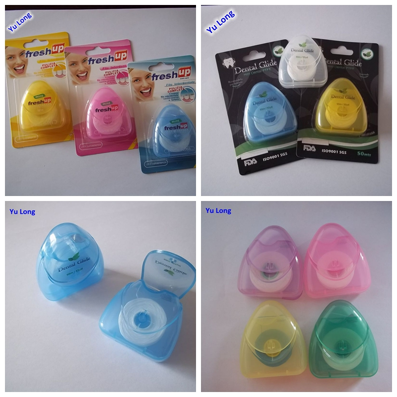 Triangle shape PTFE dental floss