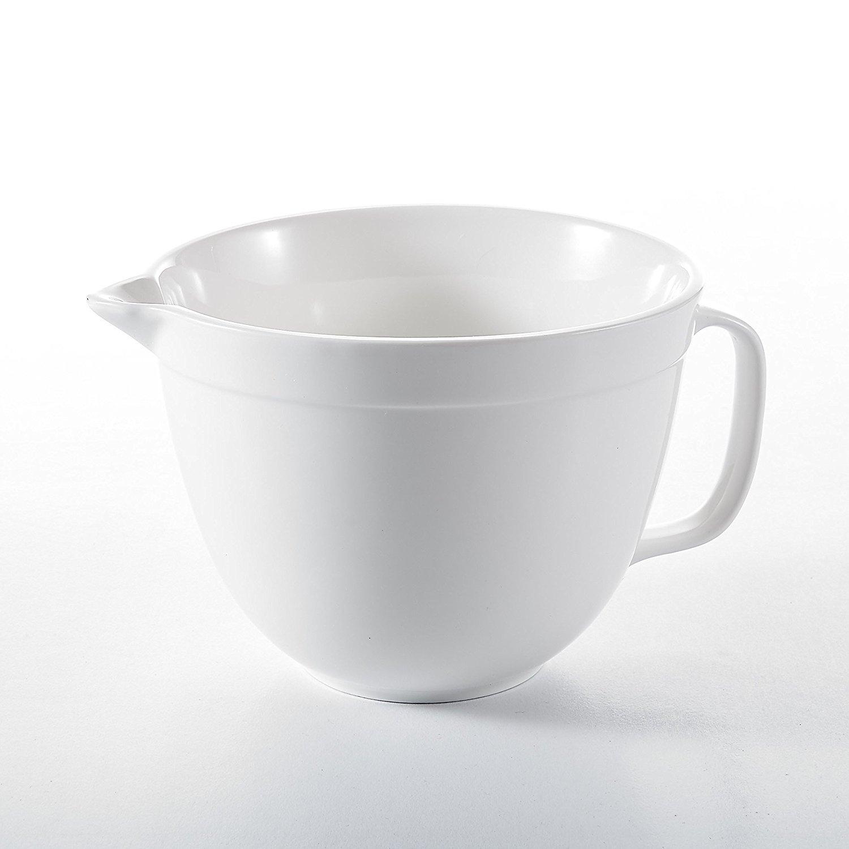 "Malacasa, Series Regular, 1-Piece 10"" Ivory White Porcelain China Ceramic Cream White Mixing Bowl for Cream, Gravy, Sauce, Salad & Condiment(24.3×19×14.5cm)"