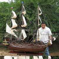 LE ROYAL LOUIS X LARGE WOODEN MODEL SHIP - HANDICRAFT OF VIETNAM