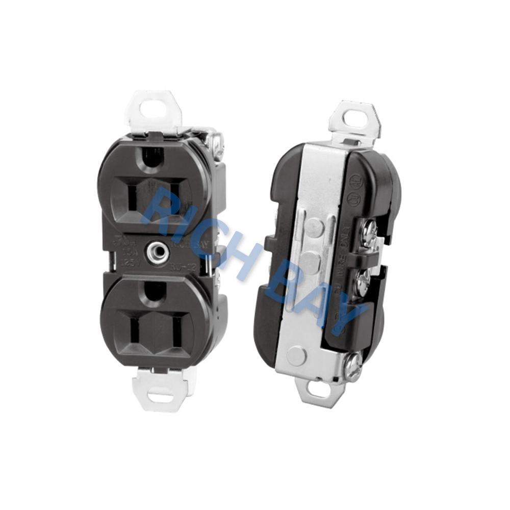 Us Receptacle Nema Duplex Electrical Usa Socket 15a 125v Ac ...