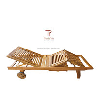 LOWEST PRICE - acacia sun lounger with table - sun lounger with cushion - pool furniture