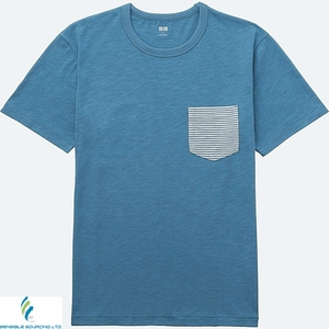 T shirt with stripe pocket Bangladeshi supplier OEM services