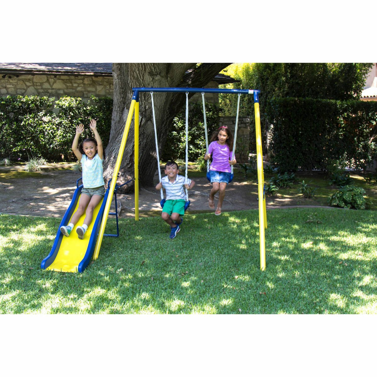 backyard itm outdoor day swing play all slide sets metal kids playground heavy set duty