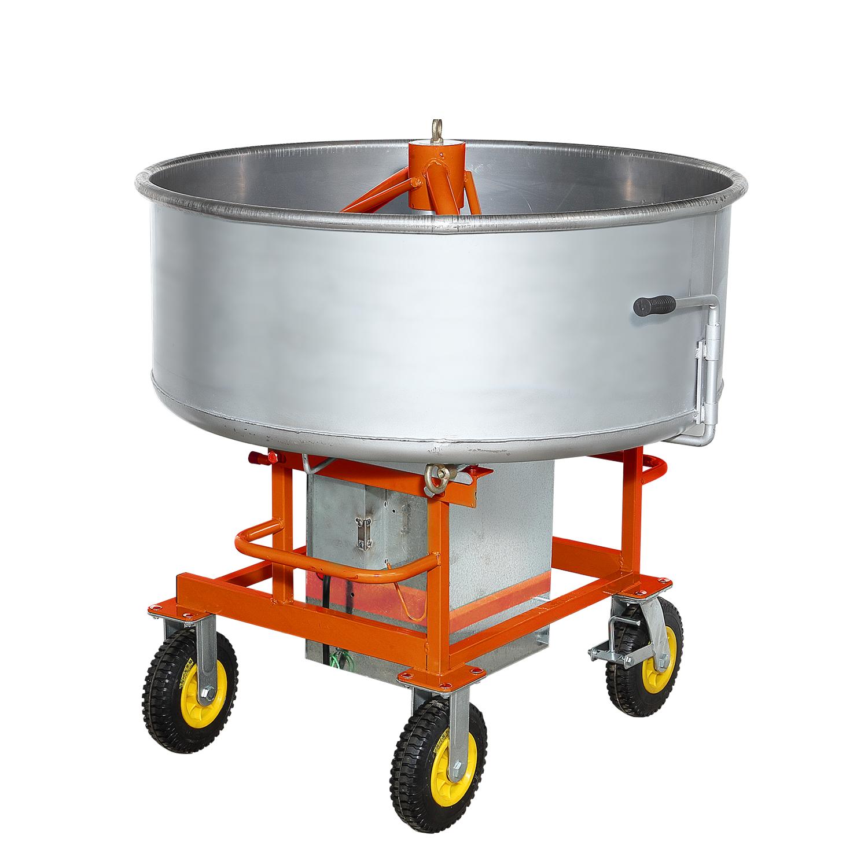 vertical portable electric feed pan type mixer