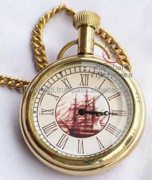 f8a66bb1f Fantasy Nautical Brass Pocket Watch - Buy Antique Pocket Watches ...
