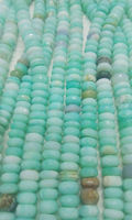 Peruvian Opal Faceted Roundel Gemstone Beads Strands - 7-8mm Faceted Bead