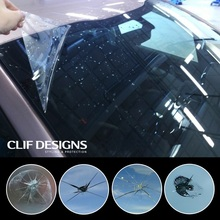 Clif Designs car window protection self adhesive VLT 86 windshield protection film window tint