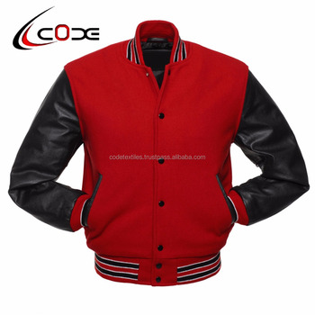 Code Textiles Varsity Jackets Black Wool Hood And Body With White