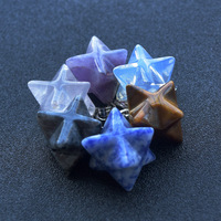 Wholesale Natural Crystal Quartz Merkaba Star Pendants For Gifts and Souvenir