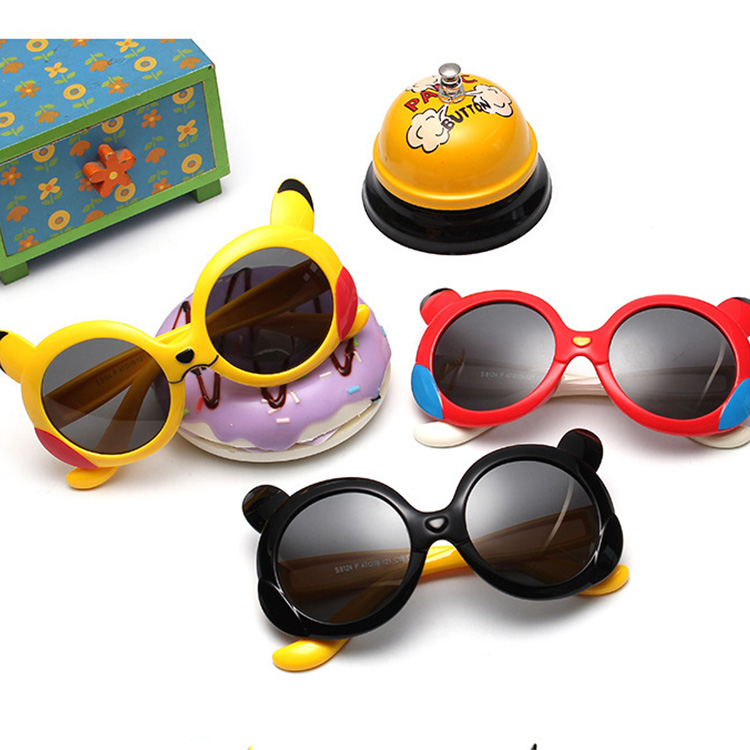 HJ colorful children sunglasses silica gel sunglasses kids anti-uv unique fashion style glasses