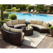 Teras Bulat Anyaman Sectional Outdoor Furniture Rotan <span class=keywords><strong>Sofa</strong></span> <span class=keywords><strong>Taman</strong></span> <span class=keywords><strong>Set</strong></span>