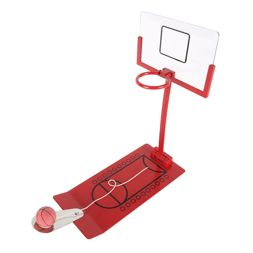 Bornbayb Desktop Mini Foldable Basketball Shooting Game, Table Basketball Game Creative Gifts for Kids or Sports Fans(Red)