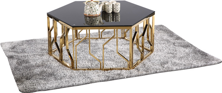 304631de01 tempered glass top modern coffee table gold round design stainless steel  tea table glass golden coffee