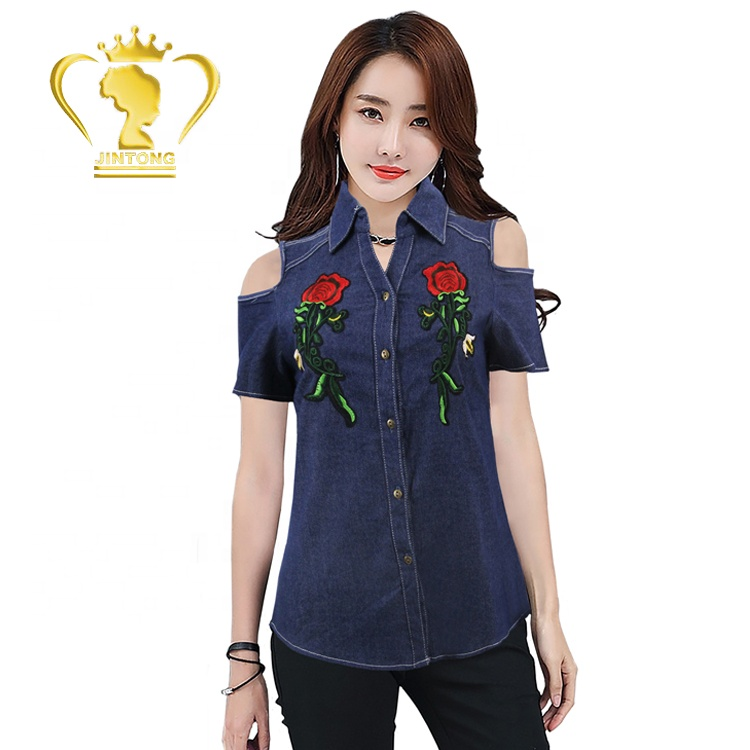 7b427d10284b68 2019 Top Fashion Latest Blouse Women For New Model Shirts - Buy ...