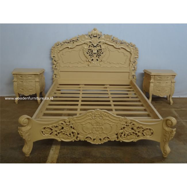 Rococo Bed Frame French Style Bedroom