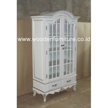 White Showcase Wooden Vitrina French Provincial Bookcase Antique Reproduction Display Cabinet Vintage European Home Furniture Buy French Style