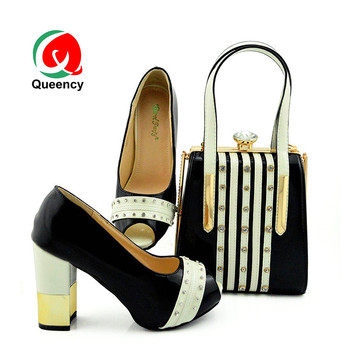 Queency Nigerian High Heel Shoes And Bag Elegant Matching Bag And Shoes