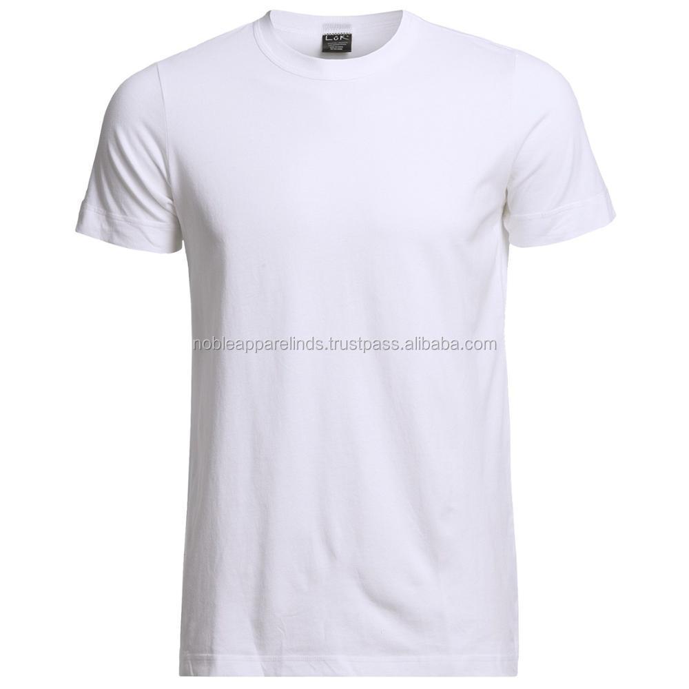 f1c381a3f Fashion 100% Cotton Cheap Men's Custom Plain T-shirt color white nice design  for
